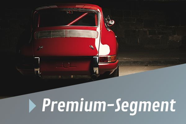 Werkstatt auto roter oldtimer premium segment